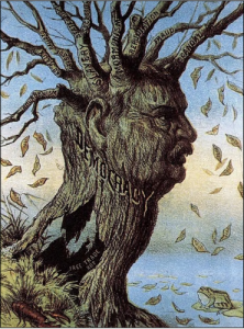 "In one of my favorite images, published in 1884, the decaying tree of American democracy features the branch ""Mormonism."""