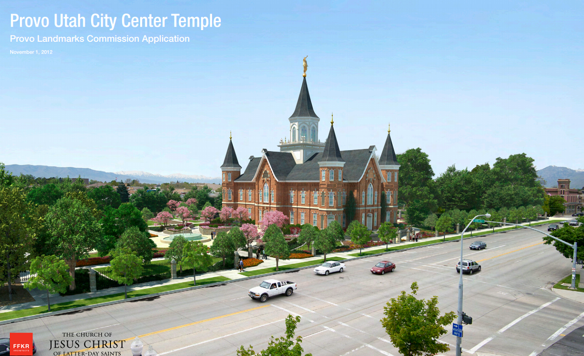Provo City Center Temple LandmarksCommissionApp 2012Nov01
