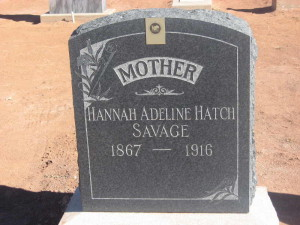 hannah adeline hatch savage grave