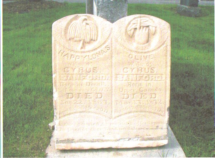 sanford wives headstone