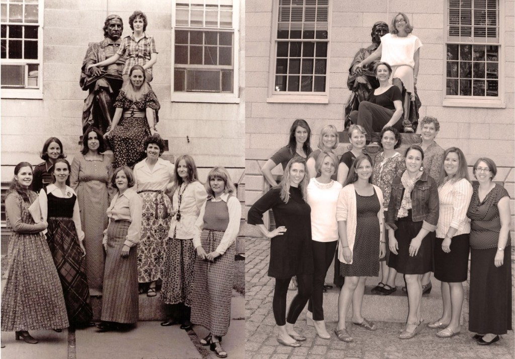 Exponent II's board in 1974 and 2014 (credit: Heather Sundahl)