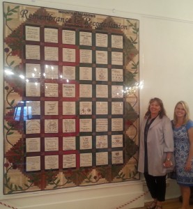 With Anna Rolapp at the September 10, 2014 reception for the Utah quilt. Photo courtesy of Barbara Jones Brown.
