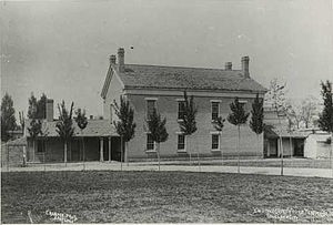 The Endowment House was located on the northwest corner of Salt Lake City's Temple Square until it was demolished in 1889.